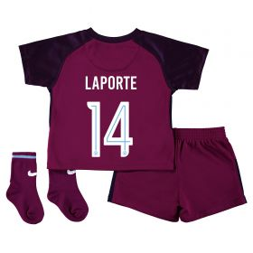 Manchester City Away Stadium Cup Kit 2017-18 - Infants with Laporte 14 printing