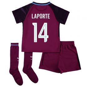 Manchester City Away Stadium Cup Kit 2017-18 - Little Kids with Laporte 14 printing