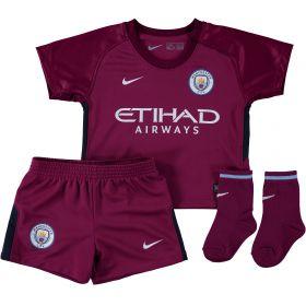 Manchester City Away Stadium Kit 2017-18 - Infants with Laporte 14 printing