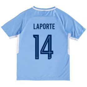 Manchester City Home Stadium Cup Shirt 2017-18 - Kids with Laporte 14 printing