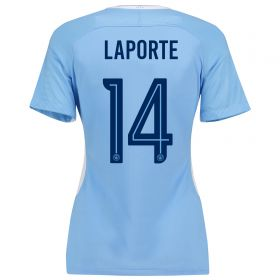 Manchester City Home Stadium Cup Shirt 2017-18 - Womens with Laporte 14 printing