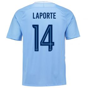 Manchester City Home Stadium Cup Shirt 2017-18 with Laporte 14 printing