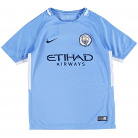 Manchester City Home Stadium Shirt 2017-18 - Kids with Laporte 14 printing