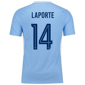 Manchester City Home Vapor Match Cup Shirt 2017-18 with Laporte 14 printing