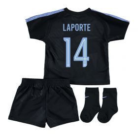 Manchester City Third Stadium Cup Kit 2017-18 - Infants with Laporte 14 printing