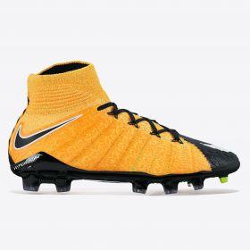 Nike Hypervenom Phantom III Dynamic Fit Firm Ground Football Boots - Laser Orange/White/Black/Volt - Kids