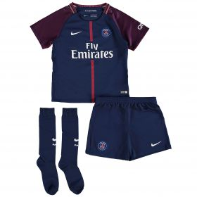 Paris Saint-Germain Home Stadium Kit 2017/18 - Little Kids with Lass 19 printing