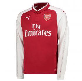 Arsenal Home Shirt 2017-18 - Long Sleeve with Aubameyang 14 printing