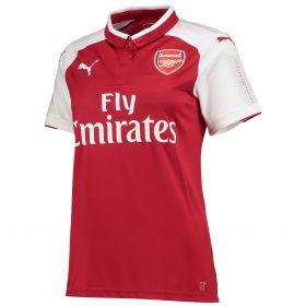 Arsenal Home Shirt 2017-18 - Womens with Aubameyang 14 printing