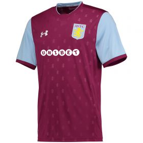 Aston Villa Home Shirt 2017-18 with Grabban 45 printing