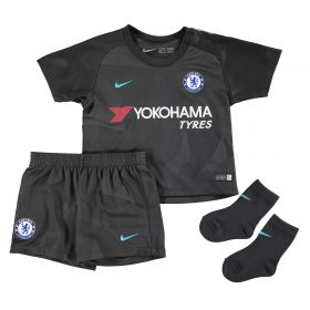 Chelsea Third Stadium Kit 2017-18 - Infants with Emerson 33 printing