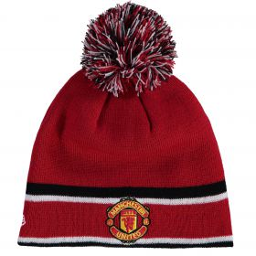 Manchester United New Era Bobble Knit - Red - Adult