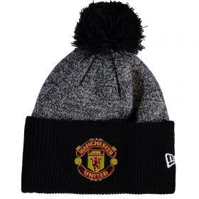 Manchester United New Era Oversized Cuff Knit - Black - Adult