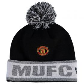 Manchester United New Era Reflective Cuff Knit - Black - Adult