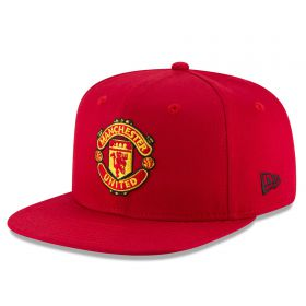 Manchester United New Era Visor Print 9FIFTY Snapback Cap - Red - Adult