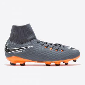 Nike Hypervenom Phantom 3 Academy Dynamic Fit Firm Ground Football Boots - Dark Grey - Kids