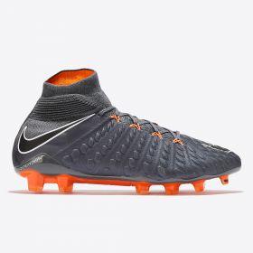 Nike Hypervenom Phantom 3 Elite Dynamic Fit Firm Ground Football Boots - Dark Grey