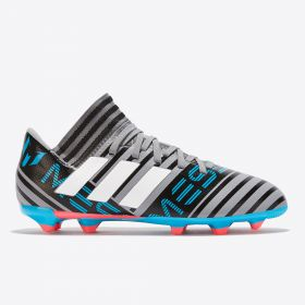 adidas Nemeziz Messi 17.3 Firm Ground Football Boots - Grey - Kids