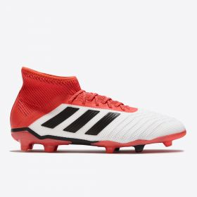 adidas Predator 18.1 Firm Ground Football Boots - White - Kids