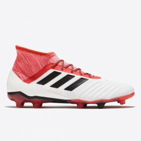 adidas Predator 18.2 Firm Ground Football Boots - White