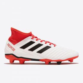adidas Predator 18.3 Firm Ground Football Boots - White