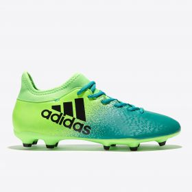 adidas X 16.3 Firm Ground Football Boots - Solar Green/Core Black/Core Green