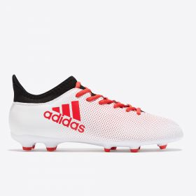 adidas X 17.3 Firm Ground Football Boots - Grey - Kids