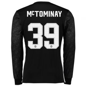 Manchester United Away Cup Shirt 2017-18 - Long Sleeve with McTominay 39 printing