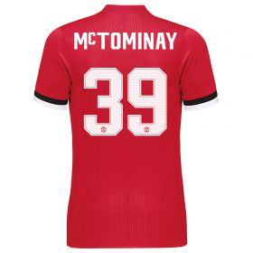 Manchester United Home Cup Adi Zero Shirt 2017-18 with McTominay 39 printing