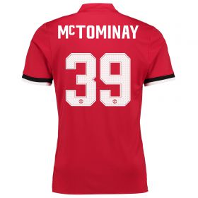 Manchester United Home Cup Shirt 2017-18 - Kids with McTominay 39 printing