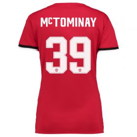 Manchester United Home Cup Shirt 2017-18 - Womens with McTominay 39 printing