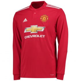 Manchester United Home Shirt 2017-18 - Long Sleeve with McTominay 39 printing