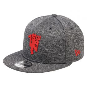 Manchester United New Era 9FIFTY Red Devil Snapback Cap - Grey Marl - Adult