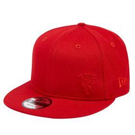 Manchester United New Era 9FIFTY Tonal Devil Snapback Cap - Red - Adult