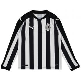 Newcastle United Home Shirt 2017-18 - Kids - Long Sleeve with Slimani 13 printing