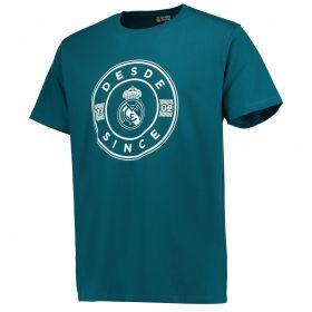 Real Madrid Established T-Shirt - Blue - Mens