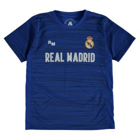 Real Madrid Polyester Training T-Shirt - Blue - Junior