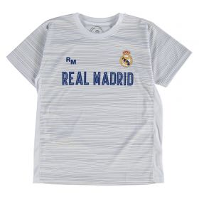 Real Madrid Polyester Training T-Shirt - White - Junior