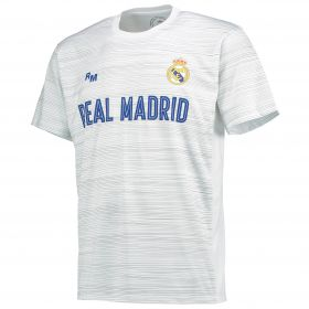Real Madrid Polyester Training T-Shirt - White - Mens