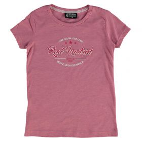 Real Madrid Script T-Shirt - Pink - Girls
