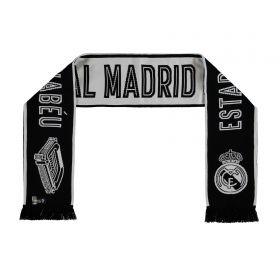 Real Madrid Stadium Fan Scarf - White/Black - Adult