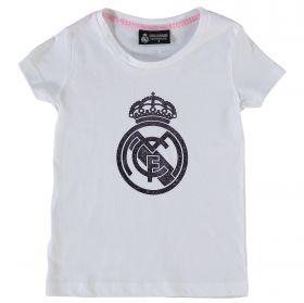 Real Madrid Tonal Crest T-Shirt - White - Infants