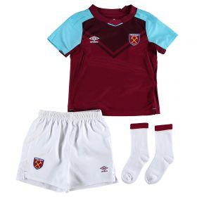 West Ham United Home Baby Kit 2017-18 with Evra 27 printing