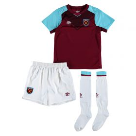 West Ham United Home Infant Kit 2017-18 with Evra 27 printing