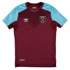 West Ham United Home Shirt 2017-18 - Kids with Evra 27 printing