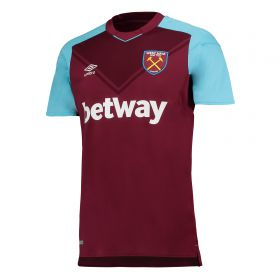 West Ham United Home Shirt 2017-18 with Evra 27 printing