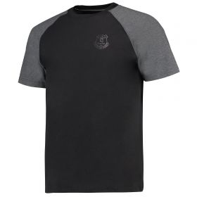 Everton Ath T-Shirt - Black/Charcoal Marl