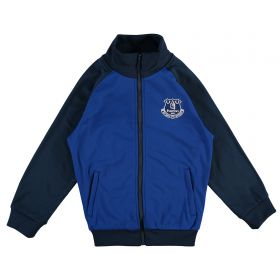 Everton Essential Tricot Track Top - Royal/Navy (6-13yrs)