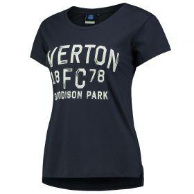 Everton Print T-Shirt - Navy - Womens