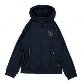 Everton Sport Full Zip Hoodie - Navy/Reflective (6-13yrs)